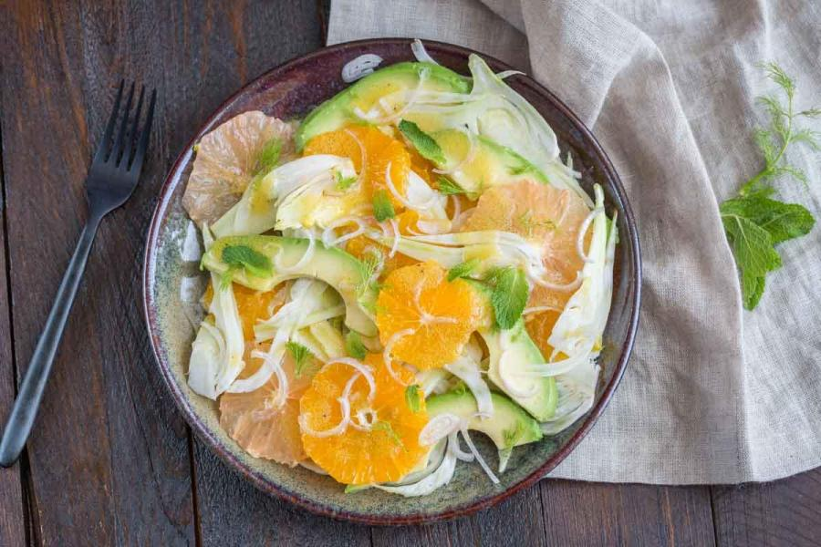 Recette salade fenouil avocat agrumes 1